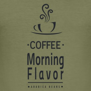 Coffee Morning Flavor - Männer Slim Fit T-Shirt