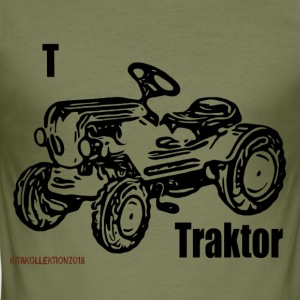 Traktor Kita samling sort - Herre Slim Fit T-Shirt