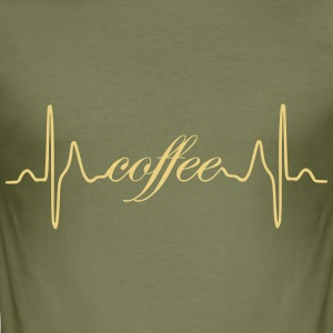 Coffee heart beat - Men's Slim Fit T-Shirt