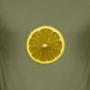 lime - Slim Fit T-skjorte for menn