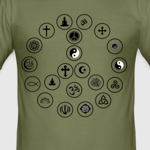 Peace and Religion - slim fit T-shirt