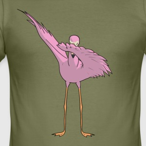 Tanzendes Flamingo - Flamenco Dabbing Dance - Männer Slim Fit T-Shirt