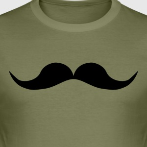 Mustache - Männer Slim Fit T-Shirt