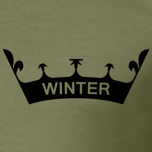 winter_crown - Herre Slim Fit T-Shirt