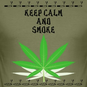 Keep calm and smoke - Men's Slim Fit T-Shirt