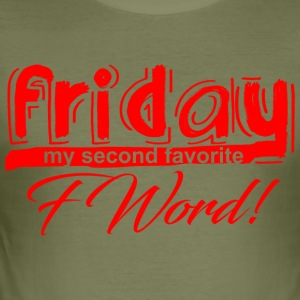 FRIDAY red - Männer Slim Fit T-Shirt