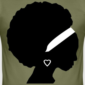 African Girl - Tee shirt près du corps Homme