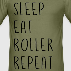sleep_eat - Slim Fit T-skjorte for menn