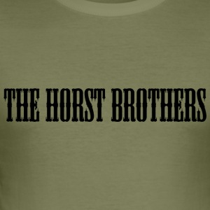 THE HORST BROTHERS Font Black - Männer Slim Fit T-Shirt