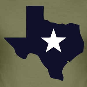 TEXAS State Outline Star - slim fit T-shirt