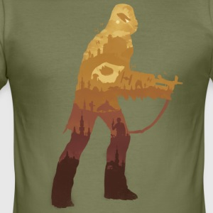 Chewbacca Silhouette - Slim Fit T-skjorte for menn