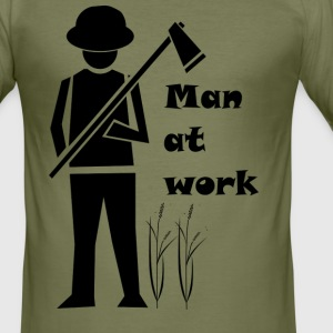Man at work - Men's Slim Fit T-Shirt