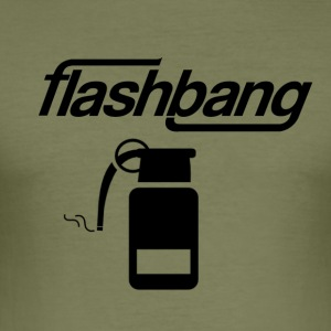 Flash Bang Log - Uten Donation - Slim Fit T-skjorte for menn