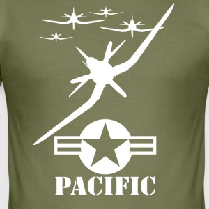 pacific wite - Slim Fit T-shirt herr