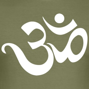 Om Sanskrit Yoga India - Men's Slim Fit T-Shirt