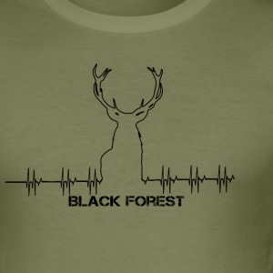 Black Forest Heartbeat black - Men's Slim Fit T-Shirt