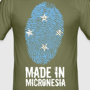 Gemaakt in Micronesië / Micronesia - slim fit T-shirt