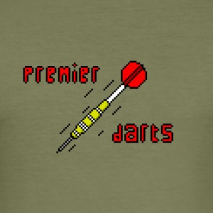 premier darts logo - Männer Slim Fit T-Shirt