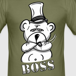 De beer als de Boss, investeerder en ondernemer - slim fit T-shirt