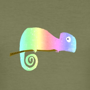 DistressedChameleon - Slim Fit T-shirt herr