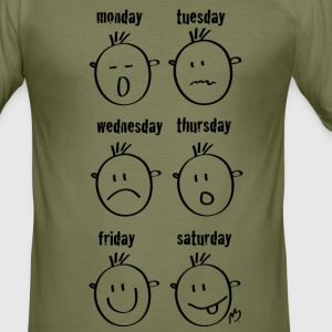 smileys Weekdays - Tee shirt près du corps Homme