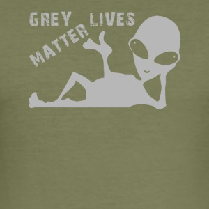 Grau Lives Matter - Männer Slim Fit T-Shirt