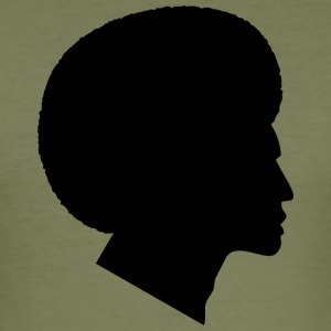 Africans with African Silhouette (Funk / Soul Style) - Men's Slim Fit T-Shirt