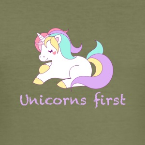 Unicorns first - Men's Slim Fit T-Shirt