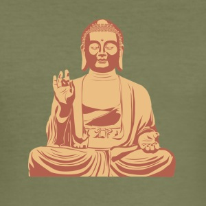 Budda Sitting - Men's Slim Fit T-Shirt