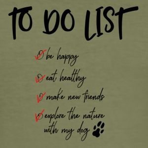 To do list for dog lovers - Men's Slim Fit T-Shirt