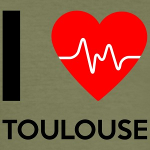 I Love Toulouse - jeg elsker Toulouse - Slim Fit T-skjorte for menn