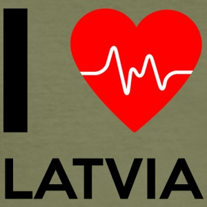 I Love Latvia - I Love Latvia - Slim Fit T-skjorte for menn