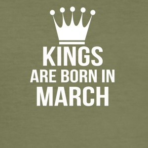 kings are born in march - Men's Slim Fit T-Shirt