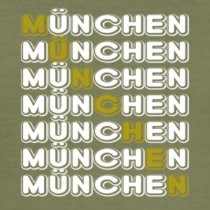 Munich Munich horizontal white - Men's Slim Fit T-Shirt