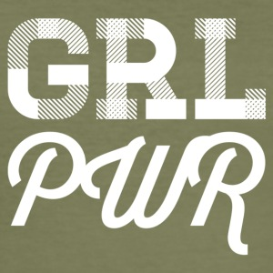 girl power - blanc - Tee shirt près du corps Homme