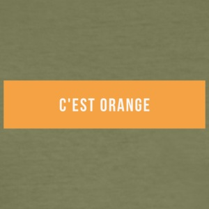 C'est Orange - Men's Slim Fit T-Shirt