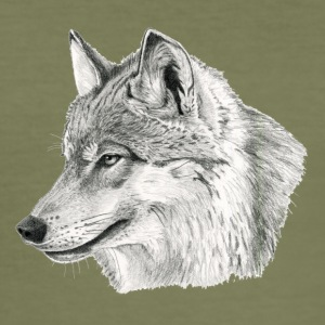Canis_lupus - Slim Fit T-shirt herr