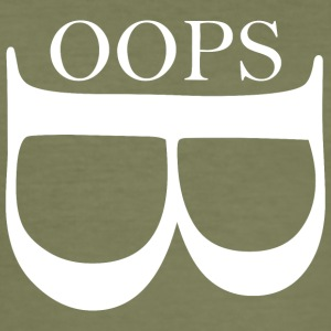 oops wite - Männer Slim Fit T-Shirt