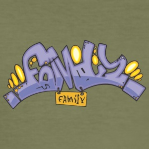 family graffiti - Men's Slim Fit T-Shirt