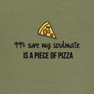 Soulmate is a piece of pizza - Männer Slim Fit T-Shirt