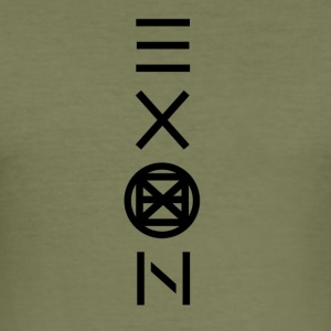Exon Officiell logotyp - Slim Fit T-shirt herr