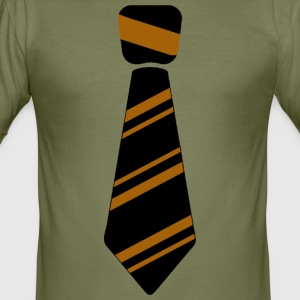 tie Brown - Men's Slim Fit T-Shirt