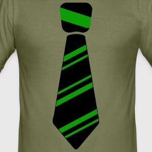 tie green - Men's Slim Fit T-Shirt