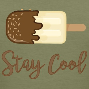 ICE CREAM STAY COOL - Maglietta aderente da uomo