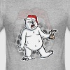 DRUNKEN POLAR BEAR - Women's T-shirt - Men's Slim Fit T-Shirt