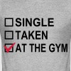 Single, Taken, At The Gym! - Slim Fit T-shirt herr