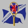 scotland saltire lion tennis design - Men's Slim Fit T-Shirt