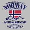 Norway - Fjord & Mountain - slim fit T-shirt