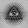 All seeing eye, god, providence, pyramid, triangle - Men's Slim Fit T-Shirt