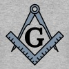 freemason symbol, masonic square & compass - Men's Slim Fit T-Shirt